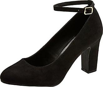 New Look Wide Foot Suit, Escarpins Bout Fermé Femme, Black (Black 1), 36 EU