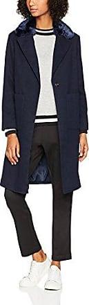New Look Collar - Abrigo para Mujer, Color Azul (Marino), Talla 40 EU (12 UK)