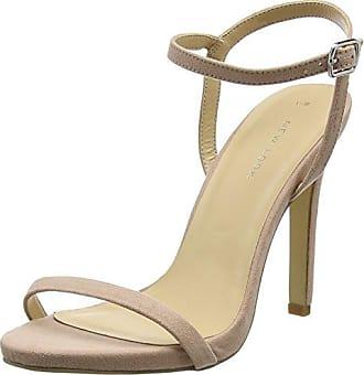 Santorini, Zapatos con Tacon y Correa de Tobillo para Mujer, Beige (Oatmeal 14), 37 EU New Look