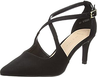 Wide Foot Supper, Zapatos de Tacón con Punta Cerrada para Mujer, Negro (Black 1), 38 EU New Look