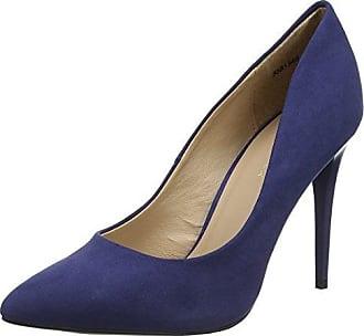 New Look - Zapatos de tacn con Punta Cerrada de Material Sintético Mujer, Color Plateado, Talla 41