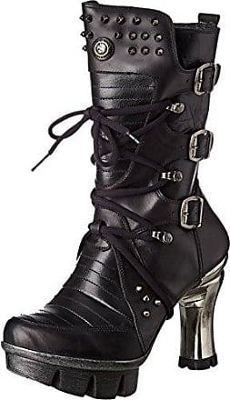 M-PUNK003-C1, Bottes Motardes Femme, Noir (Black), 37 EUNew Rock
