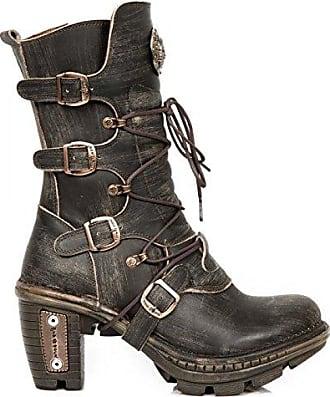 7765e4d0136b38 New Rock Boots MTR001S59 Urban Gothic Punk Damen Stiefelette Rot EU ...