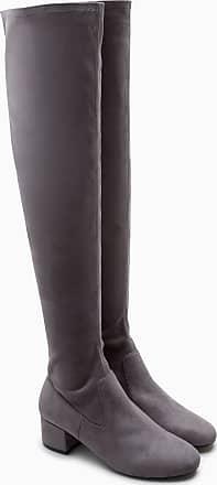 Next Overknee-Sock-Boots, grau, Grey