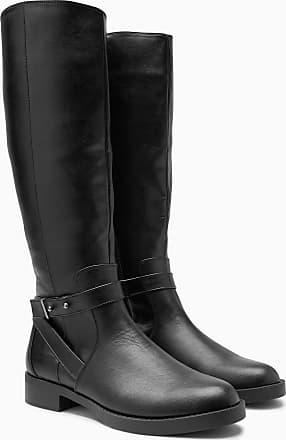 Next Legerer Stiefel aus Veloursleder mit Schnallendetail, grau, Breite Passform, Grey