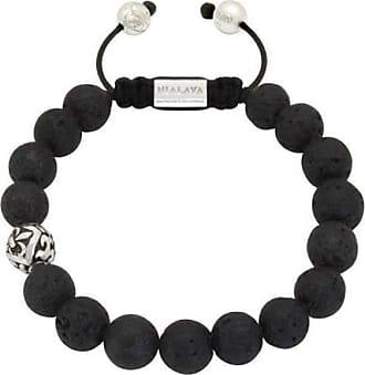 Nialaya Beaded Bracelet with Matte Onyx - Extra Large