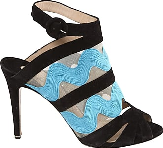 Nicholas Kirkwood Woman Embellished Metallic Knitted Platform Sandals Blue Size 41 Nicholas Kirkwood
