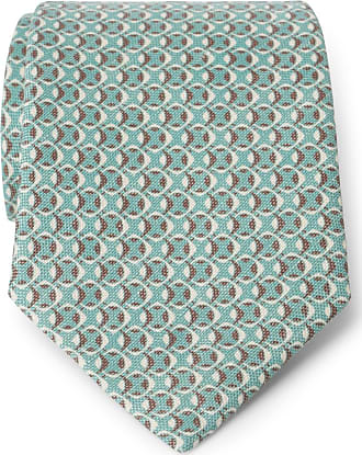 Tie mint/brown patterned Nicky