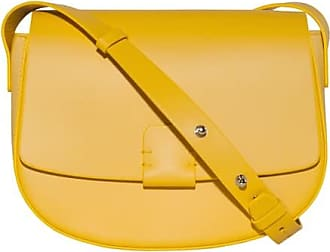 Lobivia Large Crossbody Tasche aus gelbem Kalbsleder Nico Giani
