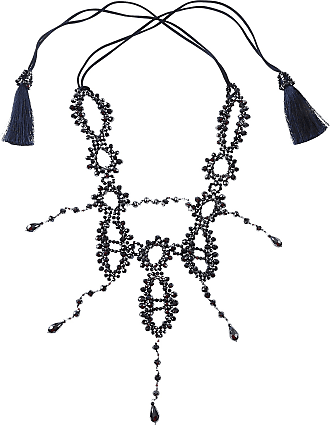 Nightmarket Necklaces, Cerulean, Crystal, 2017, One Size