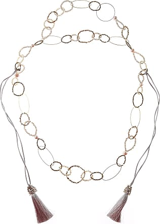 Nightmarket Necklaces On Sale, Peach, stones, 2017, One Size