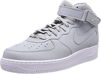 huge discount 64e17 e6bb0 Nike Air Force 1 Mid 07, Baskets Hautes Homme, Gris (Wolf Grey