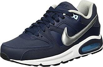 Nike Air Max Command Leather, Baskets Basses Homme, Gris (Obsidian/Metallic Silver/Bluecap/White 401), 48.5 EU