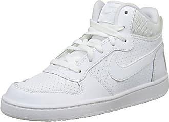 Nike - Zapatillas de deporte Primo Court Mid Suede, Mujer, Rosa (Vivid Pink/White-White), 37,5