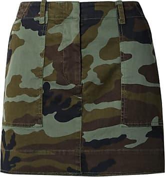 Camouflage-print Stretch-cotton Mini Skirt - Army green Nili Lotan
