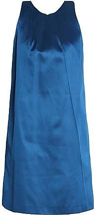Nina Ricci Woman Pleated Satin Mini Dress Cobalt Blue Size 36 Nina Ricci