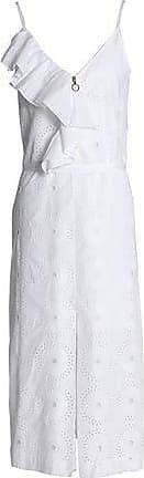 Nina Ricci Woman Ruffled Broderie Anglaise Cotton-poplin Midi Dress White Size 40 Nina Ricci