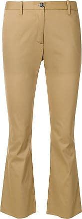 cropped flare trousers - Nude & Neutrals Nine In The Morning