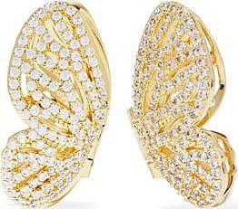 Noir Jewelry Woman Gold-tone Crystal Ear Cuffs Gold Size Noir Jewelry