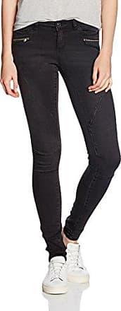 Noisy May Nmeve Lw Ss 2 Zip Jeans Black Noos, Mujer, Negro (Black), W25/L30 (Talla del fabricante: 25)