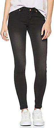 Noisy May Nmskyhigh Hw S.s. Jeans Noos, Vaqueros Slim para Mujer, Negro (Black), W28/L30 (Talla del fabricante: 28)