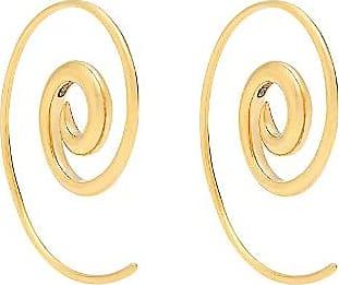 Tribal Coated 9-karat Gold Earrings - Blue Noor Fares