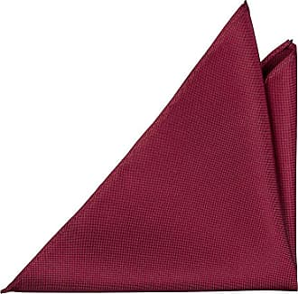 Pocket Square - Solid deep raspberry red basket weave Notch