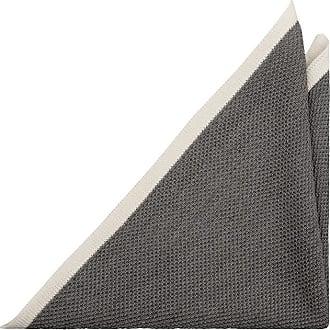 Silk Handkerchief - Light grey base, butterflies in darker grey shades - Notch PEPE Notch