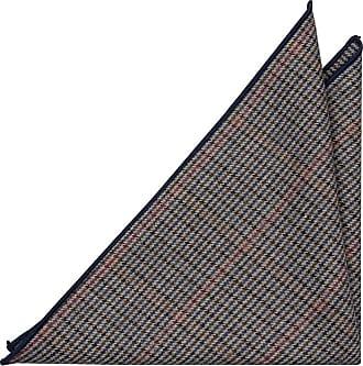 Wool Handkerchief, Notch NOLAN, Stripes in red, grey and blue Notch