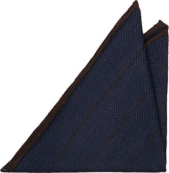 Handkerchief - Navy knitted silk with white edges - Notch ORHAN Notch