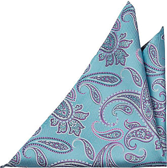 Handkerchief from Tieroom, Notch MORLEY, dark turquoise base & black licorice stripes Notch