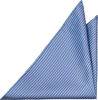 Handkerchief - Green silk knit with thin blue stripes. - Notch WERNER Notch