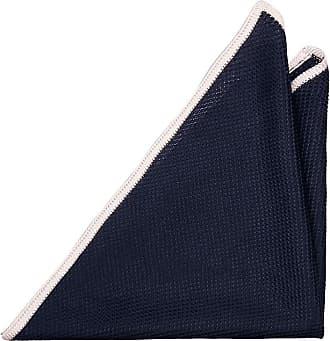 Handkerchief - Navy knitted silk with white edges - Notch PADRAIG Notch
