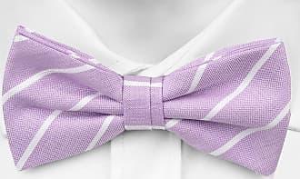Pre tied bow tie - Roses in purple & white on pale purple base Notch
