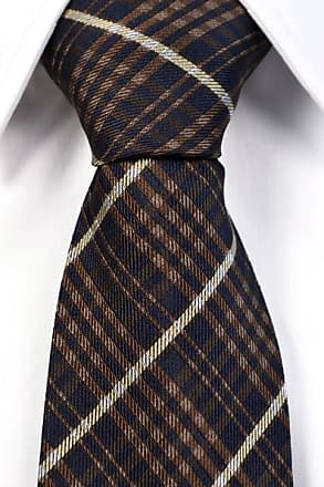 Necktie from Tieroom, Notch LUKA, checked in brown and white Notch
