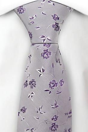 Necktie - Roses in purple & white on pale purple base Notch