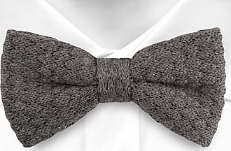 Silk Pre tied bow tie - Light grey base, butterflies in darker grey shades - Notch PEPE Notch