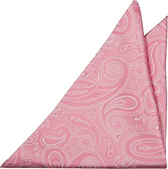 Pocket Square - Squares and tine circles in pink and blue Notch