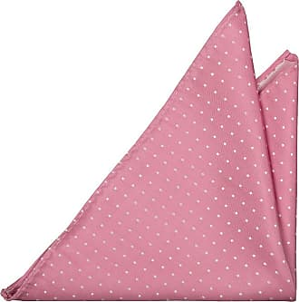 Slim tie - Bright pink linen Chambray with small pink dots Notch