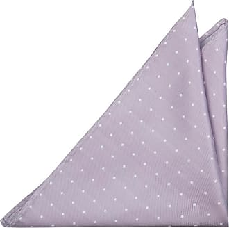 Pocket Square - Small white dots on purple base Notch