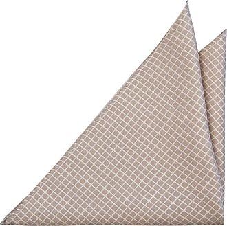 Pocket Square - White grid on beige base - Notch HJALPSAM BEIGE Notch
