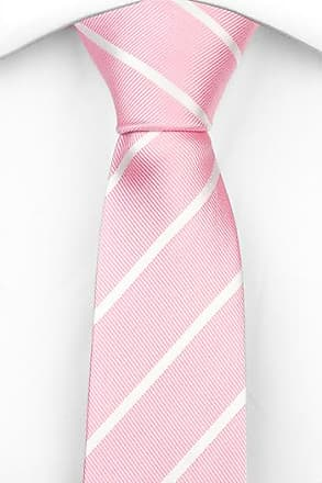 Slim necktie - Ribbed weave, broad stripes in blue and dark pink Notch