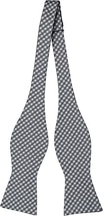 Cotton Self tie bow tie - Tattersall squares in orange, black and white - Notch HJALMAR Notch