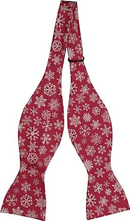 Self tie bow tie - White snowflakes on bright red Notch