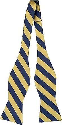 Self tie bow tie - Yellow Chalk stripes - Notch IMRE Notch