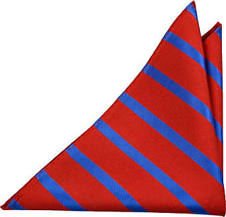 Linen Handkerchief - Tiny light blue lines on dark blue base Notch