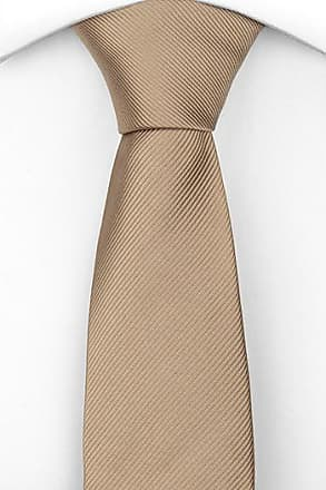 Boys tie small - Solid champagne with tone-in-tone dots Notch