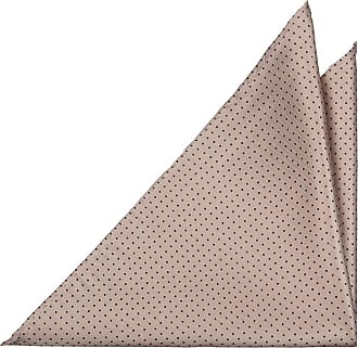 Linen Handkerchief - Medium black & white stripes on khaki base - Notch HEINRICH Notch