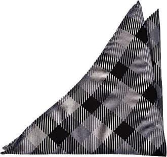 Silk Handkerchief - Glencheck pattern in orange, blue and white Notch