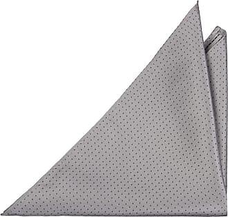 Handkerchief - Awning stripes in near black grey and light blue Notch